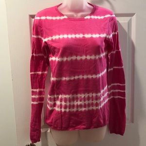 Minnie Rose Tie Dye Pink Pullover Style top